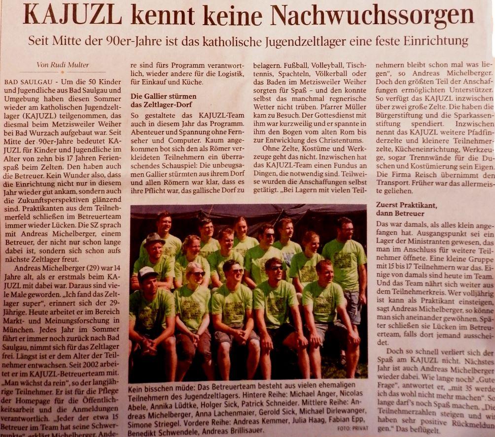 KAJUZL_2013_Zeitungsbericht